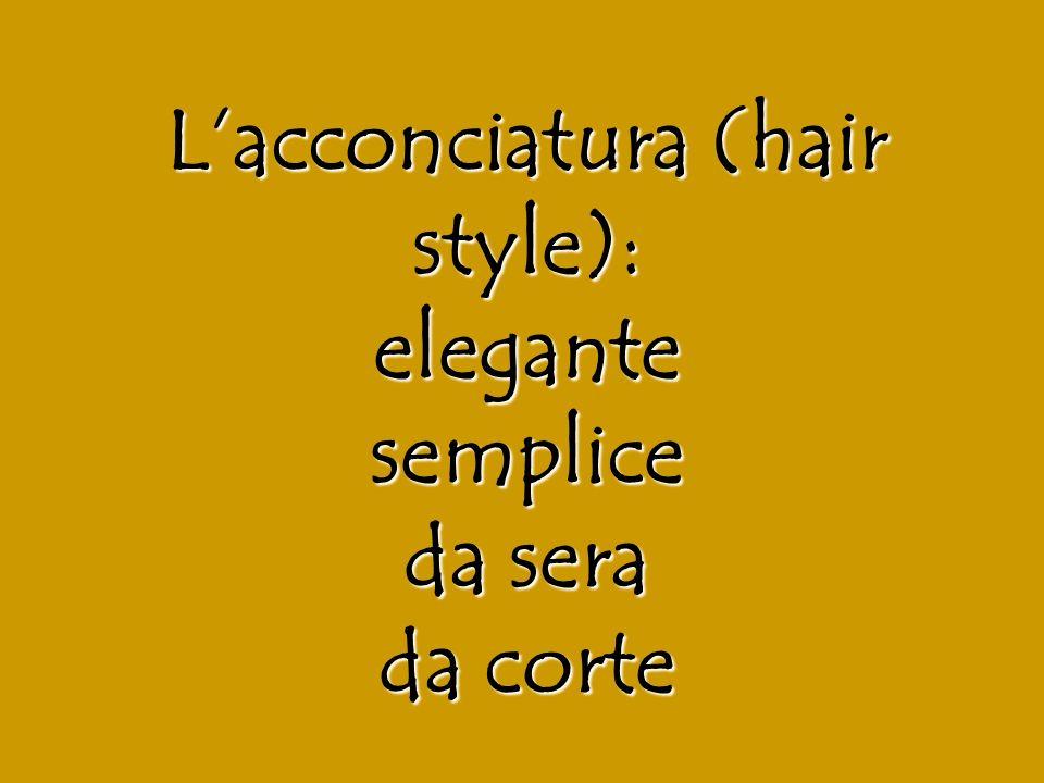 Lacconciatura (hair style): elegante semplice da sera da corte