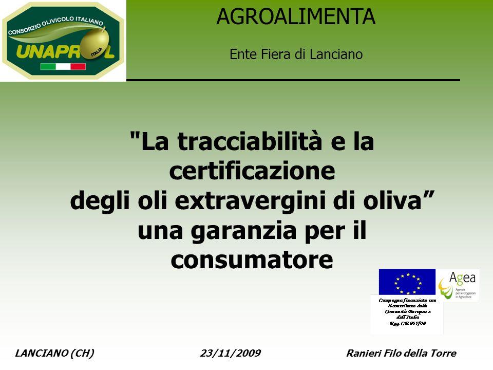 LANCIANO (CH) 23/11/2009 Ranieri Filo della Torre AGROALIMENTA Ente Fiera di Lanciano