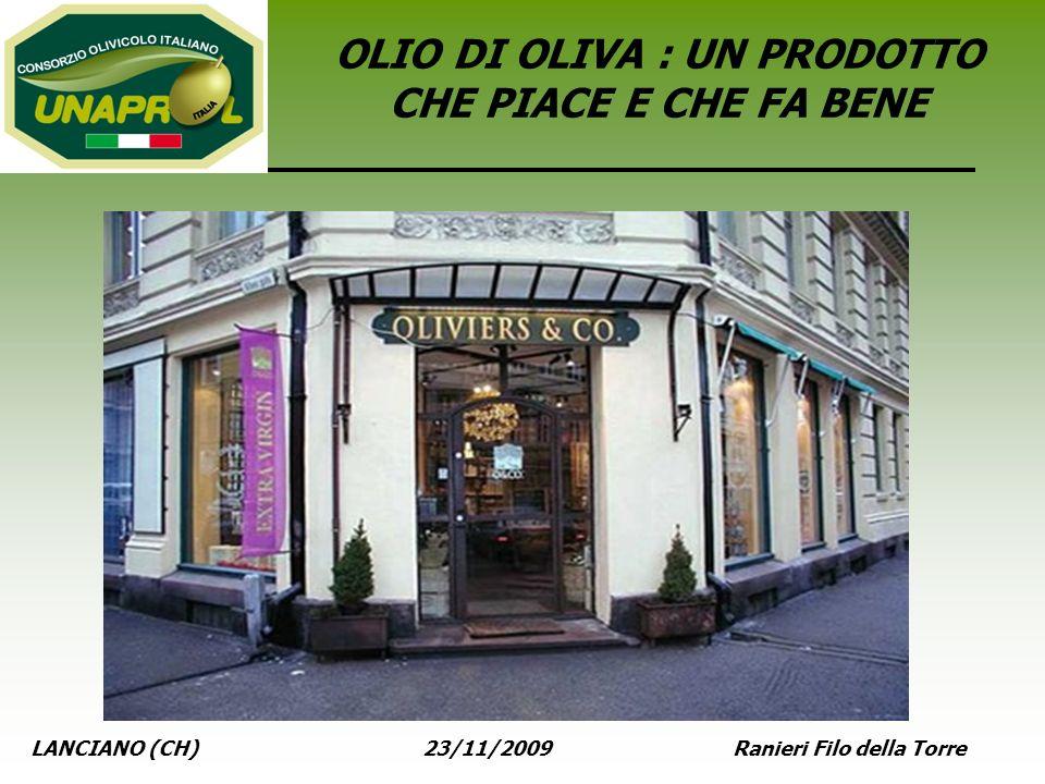LANCIANO (CH) 23/11/2009 Ranieri Filo della Torre OLIO DI OLIVA : UN PRODOTTO CHE PIACE E CHE FA BENE
