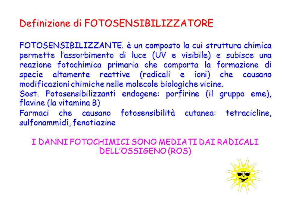 Definizione di FOTOSENSIBILIZZATORE FOTOSENSIBILIZZANTE.