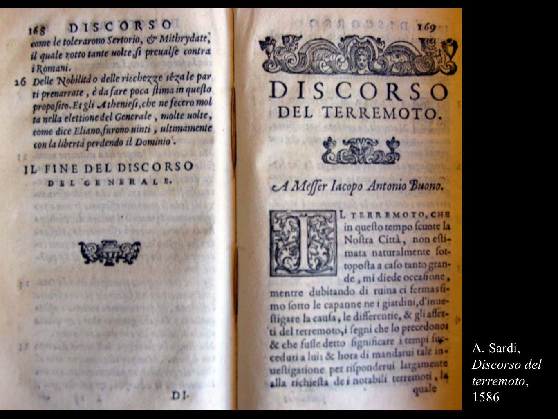 A. Sardi, Discorso del terremoto, 1586