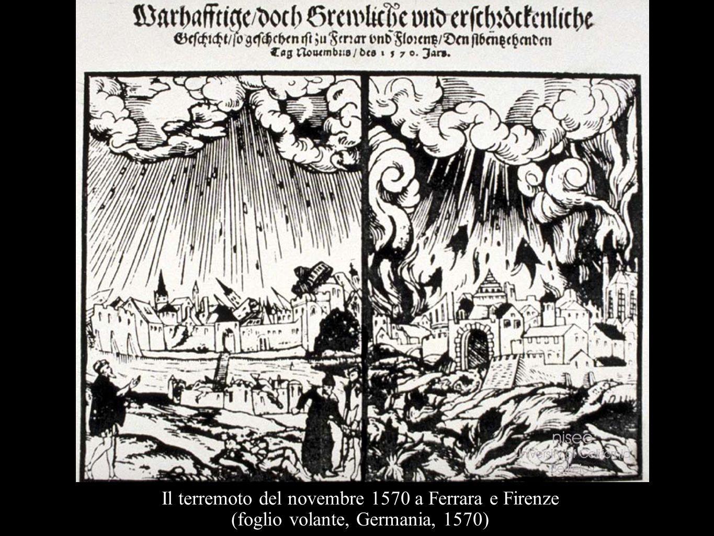 Il terremoto del novembre 1570 a Ferrara e Firenze (foglio volante, Germania, 1570)