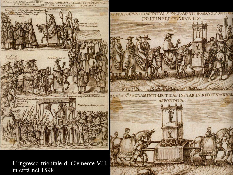 Lingresso trionfale di Clemente VIII in città nel 1598