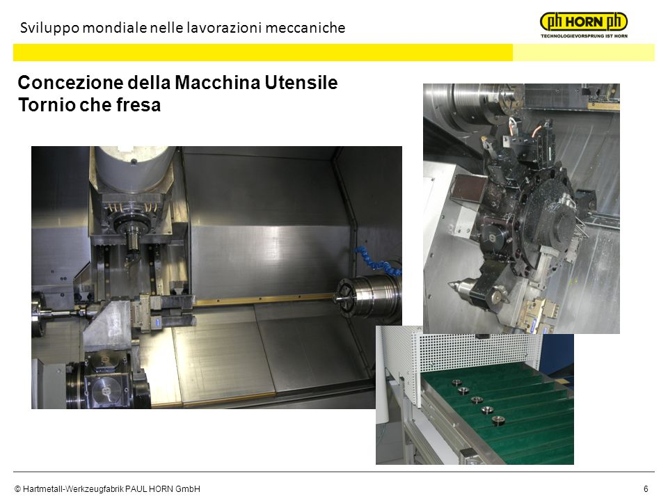© Hartmetall-Werkzeugfabrik PAUL HORN GmbH 27 Interfacce Sviluppo mondiale delle lavorazioni meccaniche