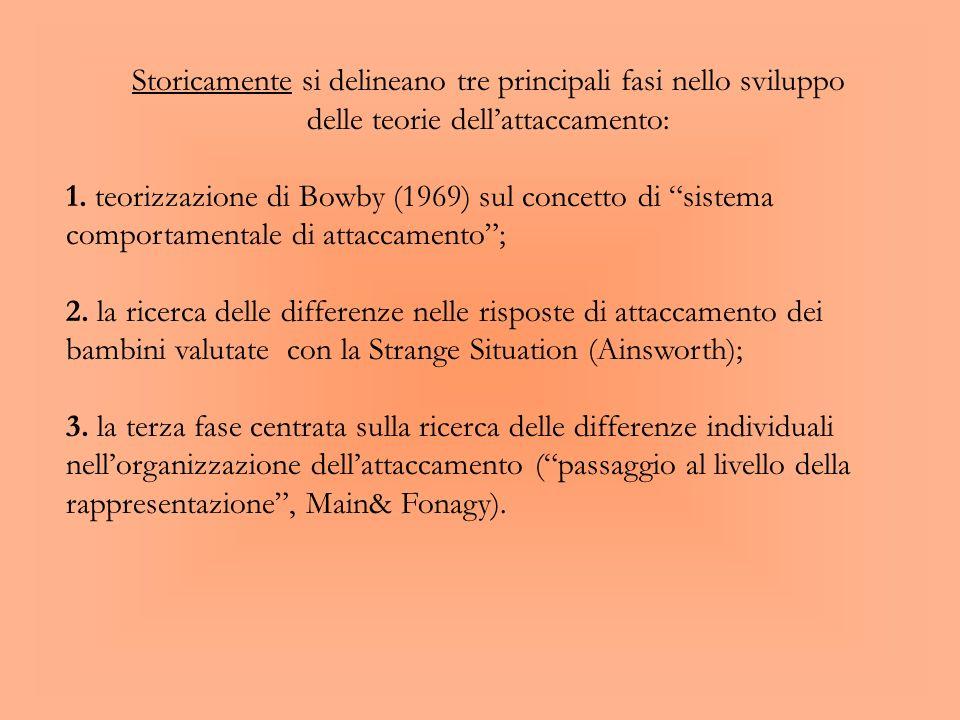 Confronto fra Bowlby e la teoria psicoanalitica classica: Elementi di distinzione sono: il sistema motivazionale: la motivazione primaria non è rappre