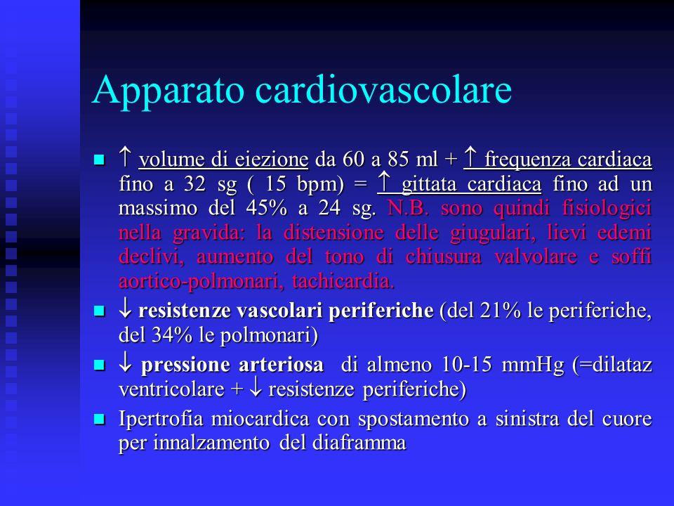 Apparato cardiovascolare volume di eiezione da 60 a 85 ml + frequenza cardiaca fino a 32 sg ( 15 bpm) = gittata cardiaca fino ad un massimo del 45% a 24 sg.