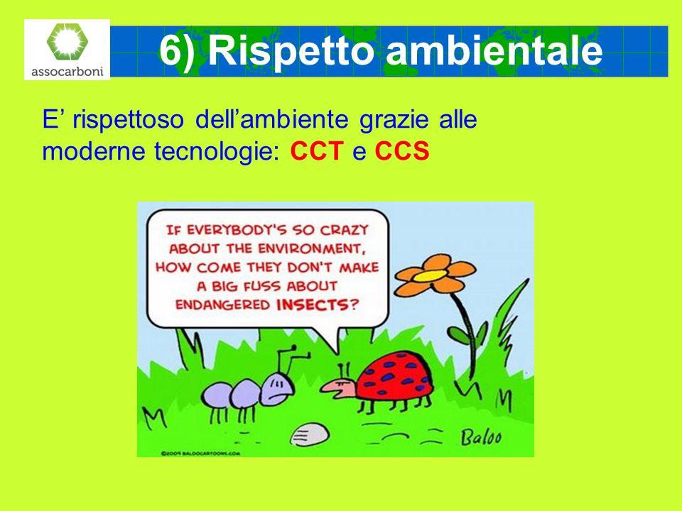 E rispettoso dellambiente grazie alle moderne tecnologie: CCT e CCS 6) Rispetto ambientale