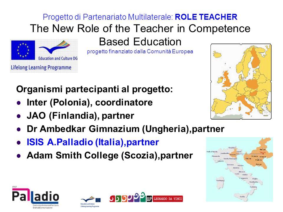 Il Progetto Role Teacher, attraverso lazione dei partenariati multilaterali, rientra nel programma Leonardo da Vinci che ha come obiettivi generali: »sostenere il miglioramento della qualità e incrementare il volume della cooperazione tra istituzioni o organizzazioni che offrono opportunità di apprendimento, imprese, parti sociali e altri organismi pertinenti in tutta Europa »migliorare la trasparenza e il riconoscimento delle qualifiche e delle competenze, comprese quelle acquisite attraverso lapprendimento non formale e informale Progetto di Partenariato Multilaterale: ROLE TEACHER OBIETTIVI GENERALI DEL PROGRAMMA LEONARDO da VINCI