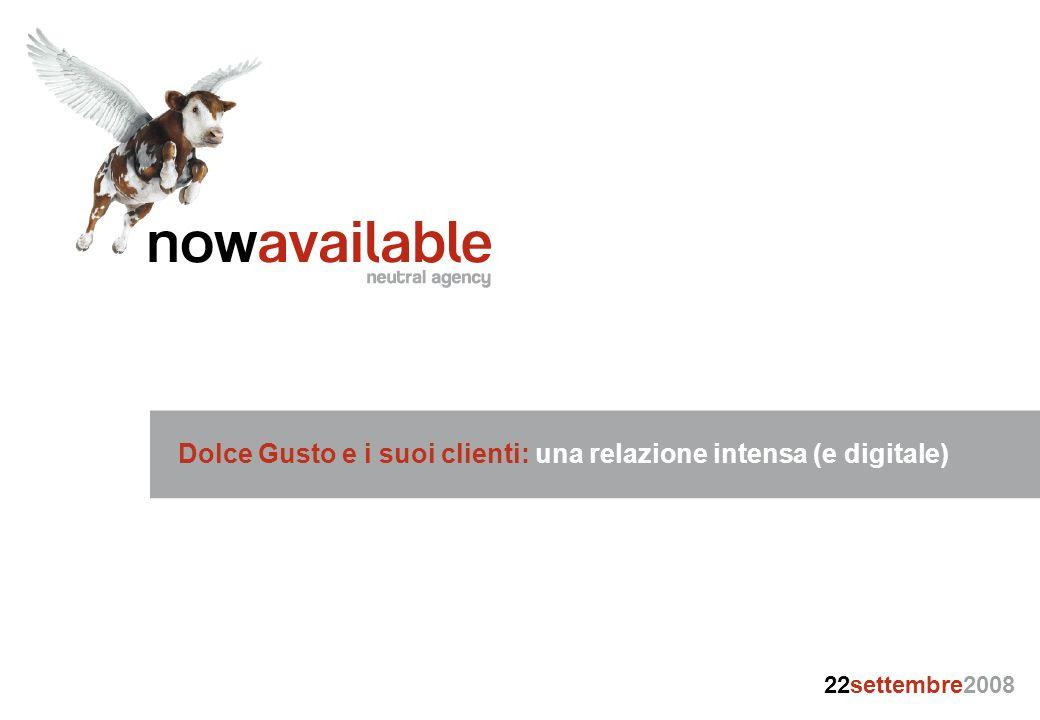 Dolce Gusto e i suoi clienti: una relazione intensa (e digitale) 22settembre2008