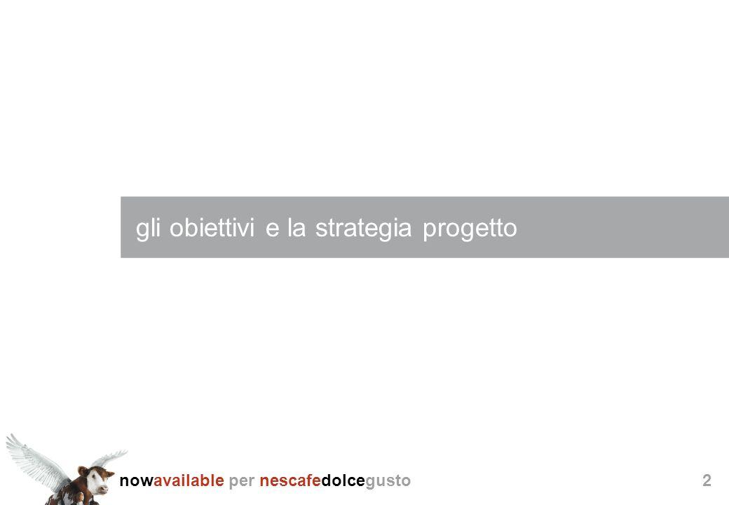nowavailable per nescafedolcegusto2 gli obiettivi e la strategia progetto