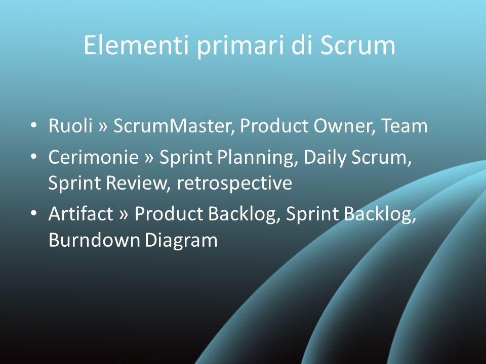 Scrum Ceremonies - Sprint Review Durante lo Sprint Review il team mostra il lavoro effettuato Non è una presentazione o Demo, il team mostra effettivamente il lavoro svolto