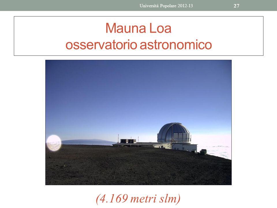 27 Mauna Loa osservatorio astronomico (4.169 metri slm) Università Popolare 2012-13
