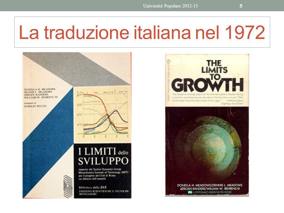 La traduzione italiana nel 1972 Università Popolare 2012-13 5
