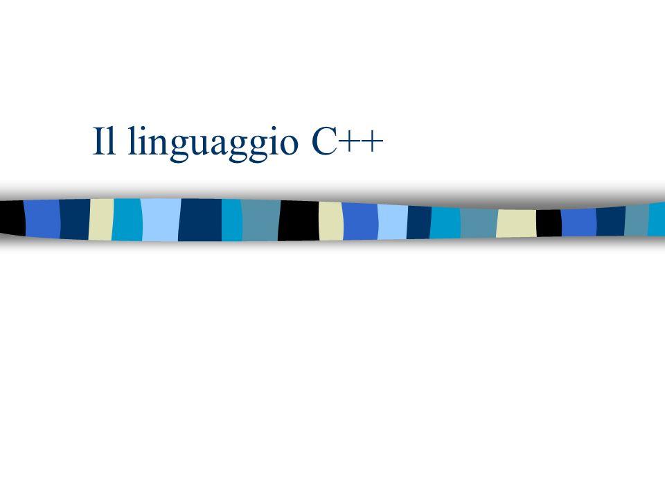 Il linguaggio C++