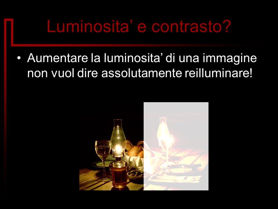 Luminosita e contrasto? Aumentare la luminosita di una immagine non vuol dire assolutamente reilluminare!