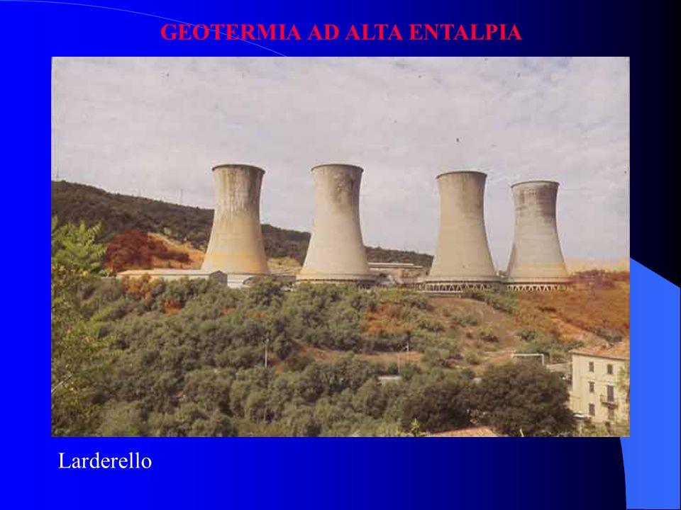 Geos = terra Thermos = calore Geotermia ad Alta Entalpia (Larderello) A Bassa Entalpia Gradiente termico normale (3 C / 100 m) sonda geotermica / pomp