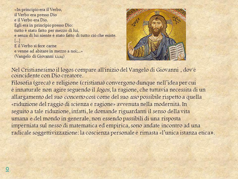«In principio era il Verbo, il Verbo era presso Dio e il Verbo era Dio.
