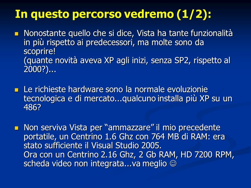 Link per sviluppo applicazioni (1/2) Windows Vista User Experience Guidelines Windows Vista User Experience Guidelines Windows Vista User Experience Guidelines Windows Vista User Experience Guidelines Application Compatibility Application Compatibility Application Compatibility Application Compatibility Application Compatibility Cookbook Application Compatibility Cookbook Application Compatibility Cookbook Application Compatibility Cookbook Daniel Moth Blog (esempi codice, tips,...) Daniel Moth Blog (esempi codice, tips,...) Daniel Moth Blog Daniel Moth Blog Developer Best Practices and Guidelines for Applications in a Least Privileged Environment Developer Best Practices and Guidelines for Applications in a Least Privileged Environment Developer Best Practices and Guidelines for Applications in a Least Privileged Environment Developer Best Practices and Guidelines for Applications in a Least Privileged Environment Teach Your Apps To Play Nicely With Windows Vista User Account Control Teach Your Apps To Play Nicely With Windows Vista User Account Control Teach Your Apps To Play Nicely With Windows Vista User Account Control Teach Your Apps To Play Nicely With Windows Vista User Account Control