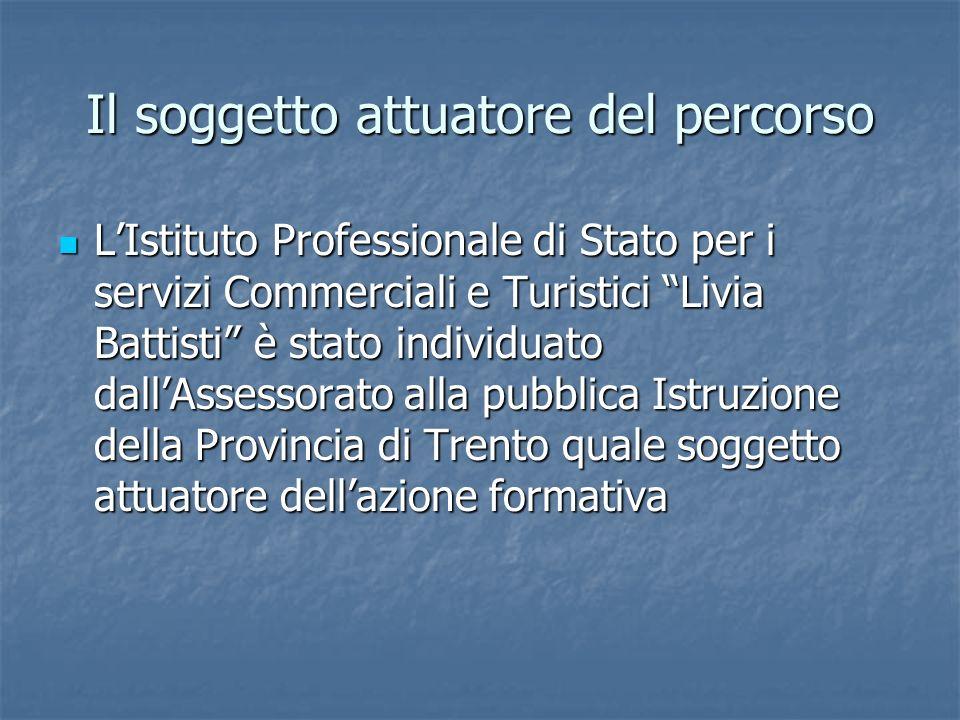 Il soggetto attuatore del percorso LIstituto Professionale di Stato per i servizi Commerciali e Turistici Livia Battisti è stato individuato dallAsses