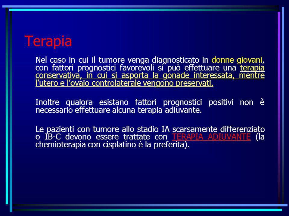 Terapia Nel caso in cui il tumore venga diagnosticato in donne giovani, con fattori prognostici favorevoli si può effettuare una terapia conservativa,