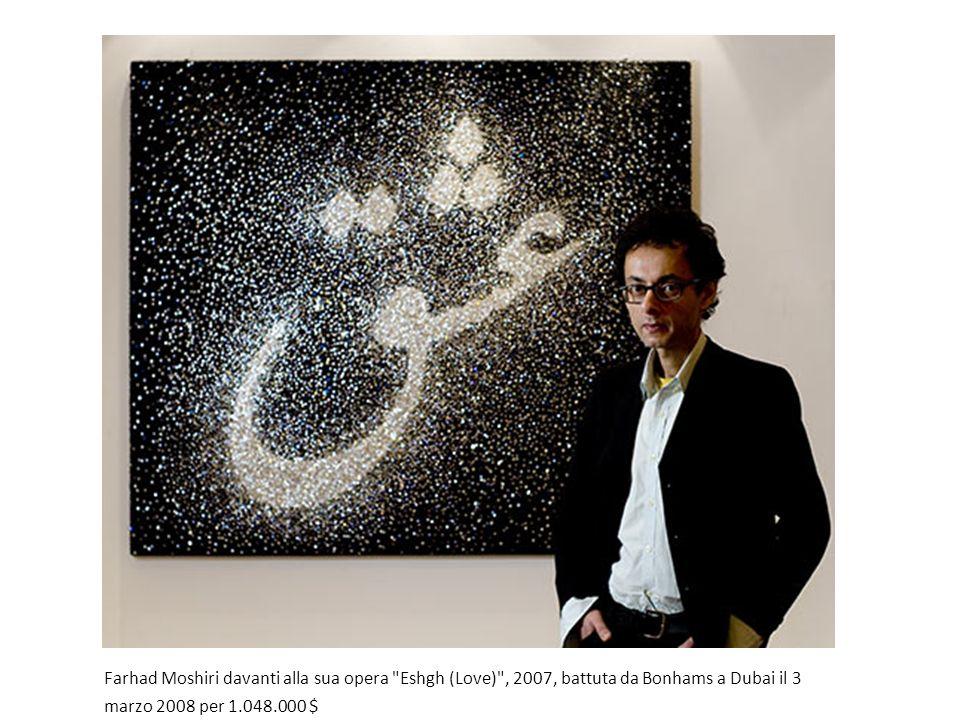 Farhad Moshiri davanti alla sua opera