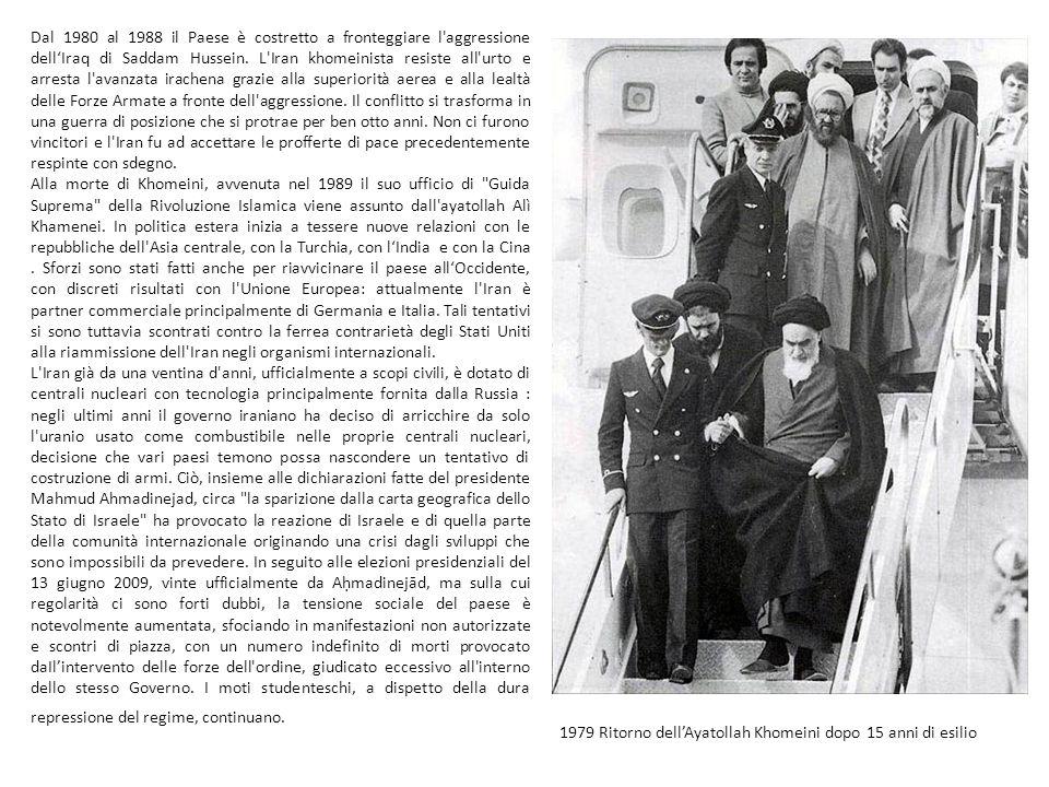 La Rivoluzione islamica iraniana del 1979 trasformò la millenaria monarchia persiana in una Repubblica islamica la cui costituzione si ispira alla legge coranica, la sharia.