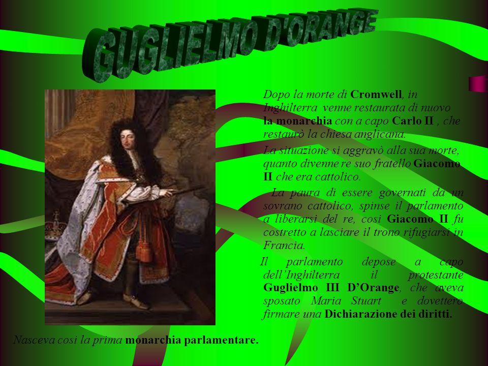 Dopo la morte di Cromwell, in Inghilterra venne restaurata di nuovo la monarchia con a capo Carlo II, che restaurò la chiesa anglicana. La situazione