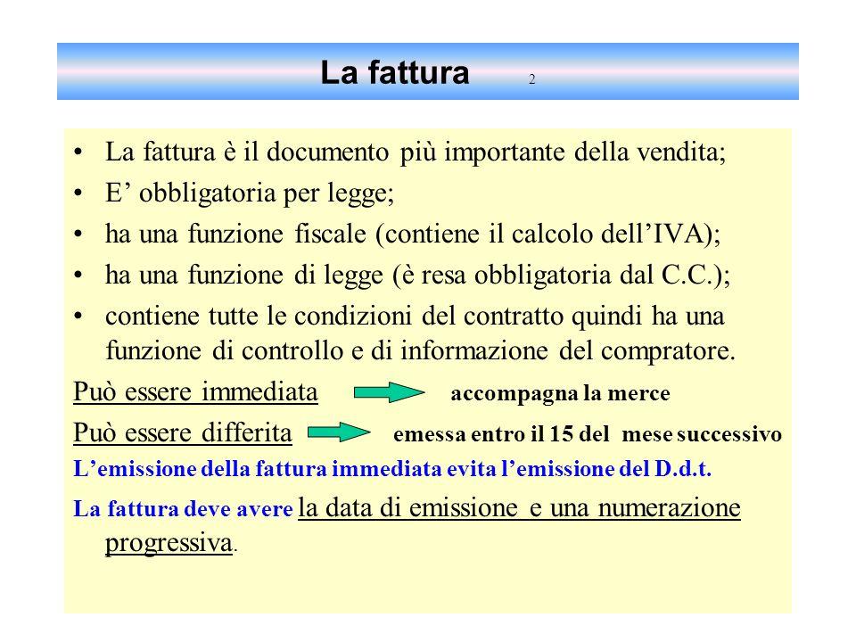 La fatturazione e LIVA ISS Liceo Classico G. Leopardi San Benedetto del Tronto IPSSCT CECI - Sede coordinata di Cupra Marittima Dipartimento di Econom