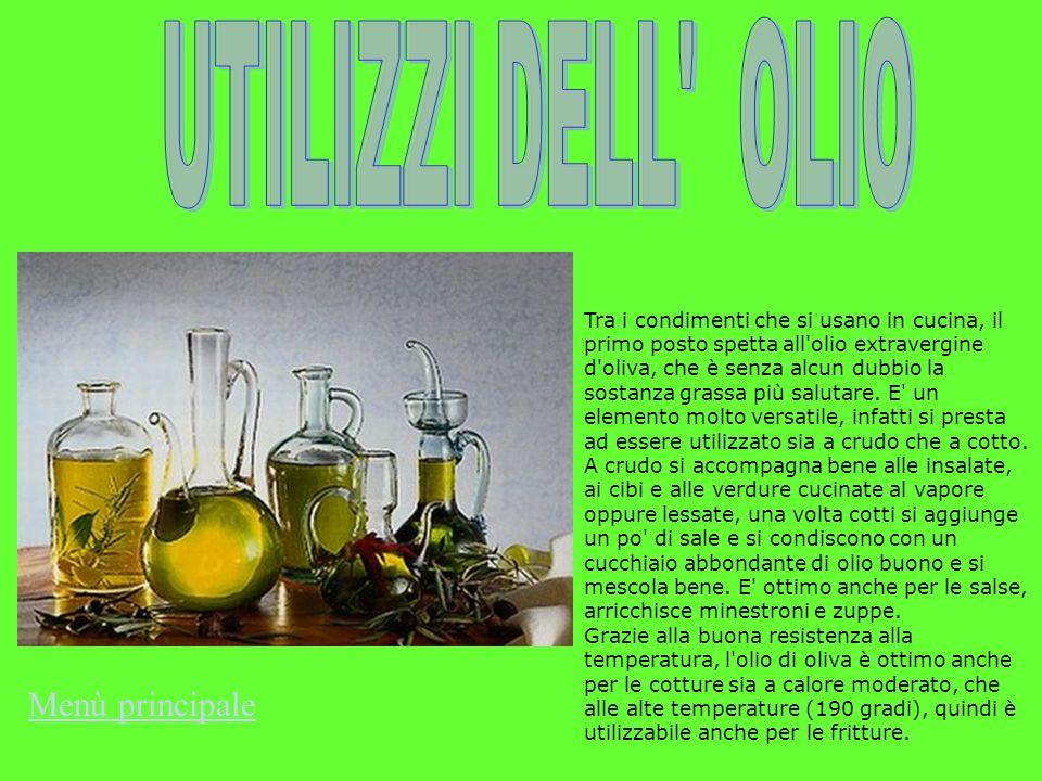 Tra i condimenti che si usano in cucina, il primo posto spetta all'olio extravergine d'oliva, che è senza alcun dubbio la sostanza grassa più salutare
