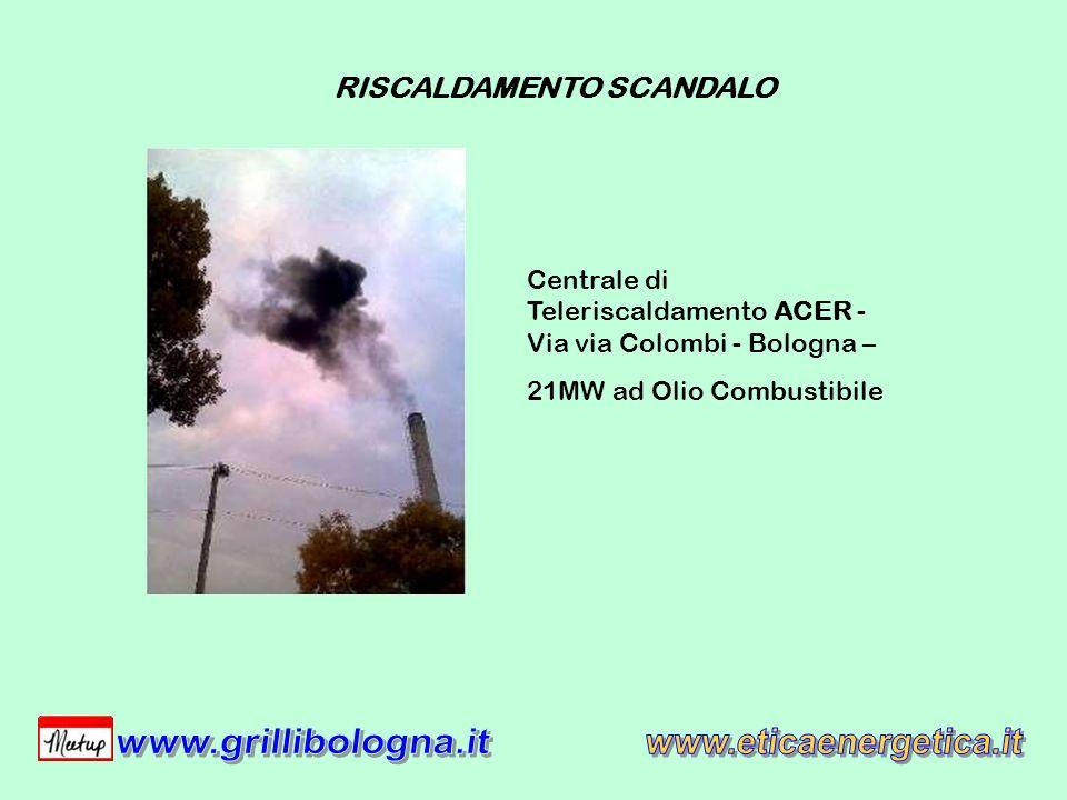 Centrale di Teleriscaldamento ACER - Via via Colombi - Bologna – 21MW ad Olio Combustibile RISCALDAMENTO SCANDALO