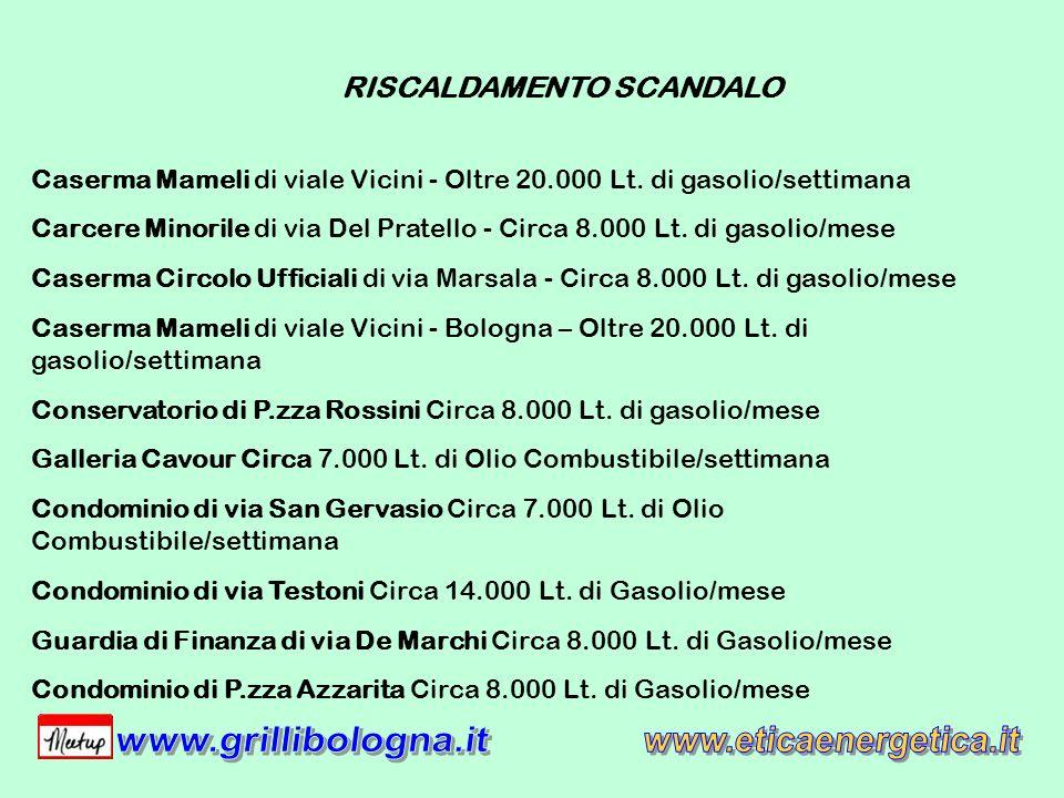 Caserma Mameli di viale Vicini - Oltre 20.000 Lt.