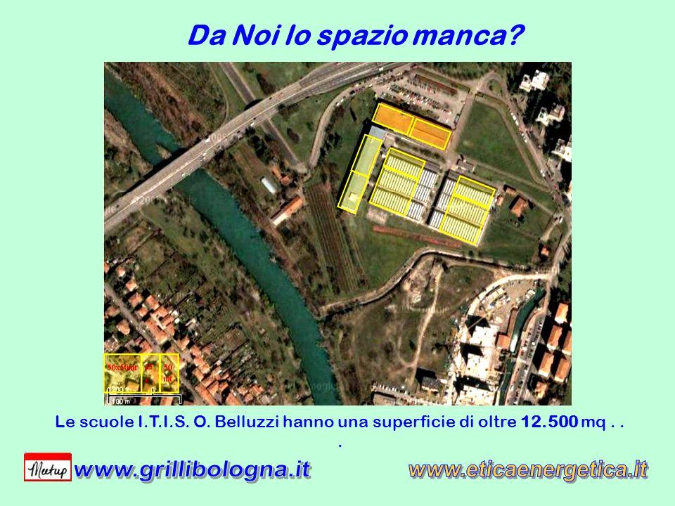 Da Noi lo spazio manca? Le scuole I.T.I.S. O. Belluzzi hanno una superficie di oltre 12.500 mq...