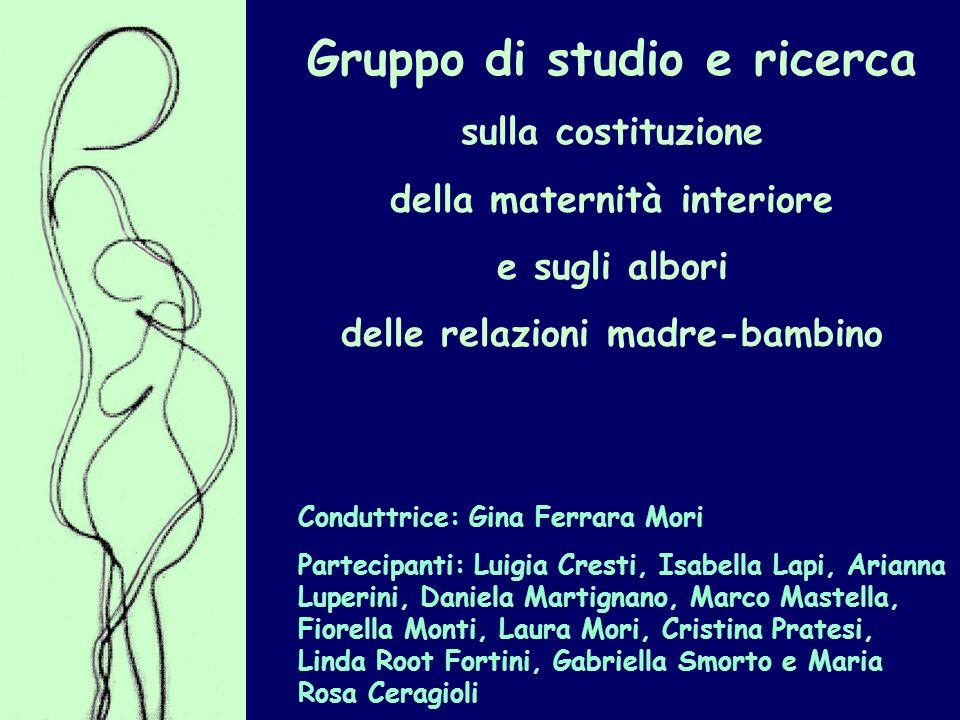 Gruppo di studio e ricerca sulla costituzione della maternità interiore e sugli albori delle relazioni madre-bambino Conduttrice: Gina Ferrara Mori Pa