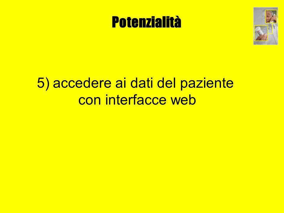 Potenzialità 5) accedere ai dati del paziente con interfacce web