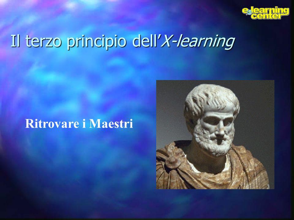 Il terzo principio dellX-learning Ritrovare i Maestri