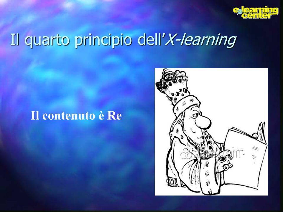 Il quarto principio dellX-learning Il contenuto è Re