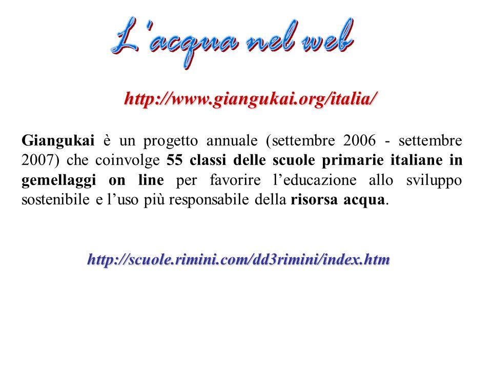 http://www.giangukai.org/italia/ Giangukai è un progetto annuale (settembre 2006 - settembre 2007) che coinvolge 55 classi delle scuole primarie itali