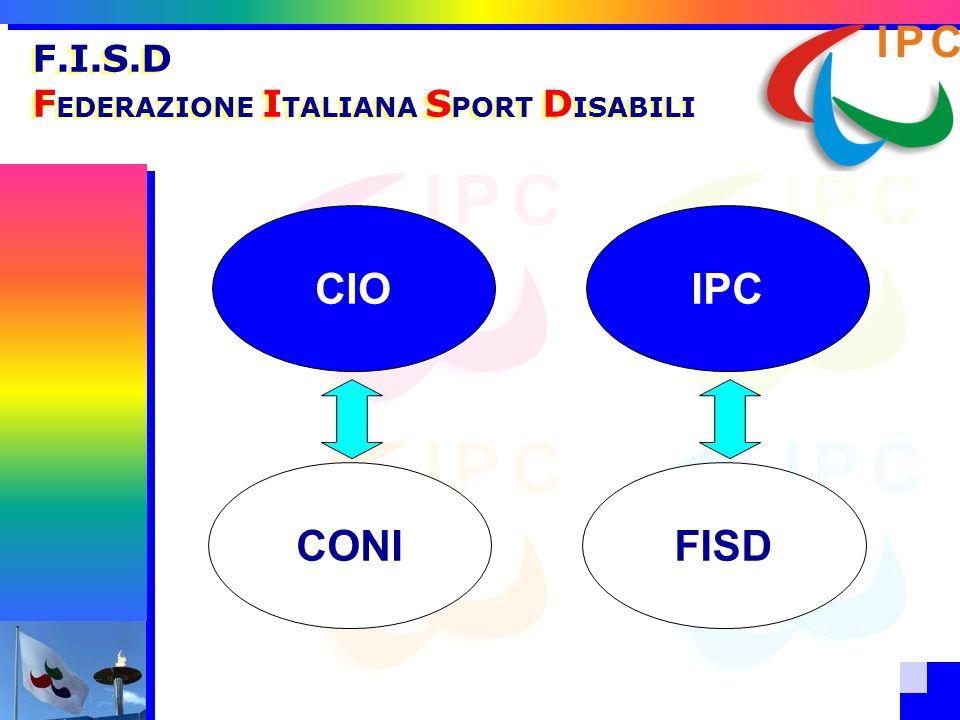 . F.I.S.D F EDERAZIONE I TALIANA S PORT D ISABILI CIOIPC CONIFISD