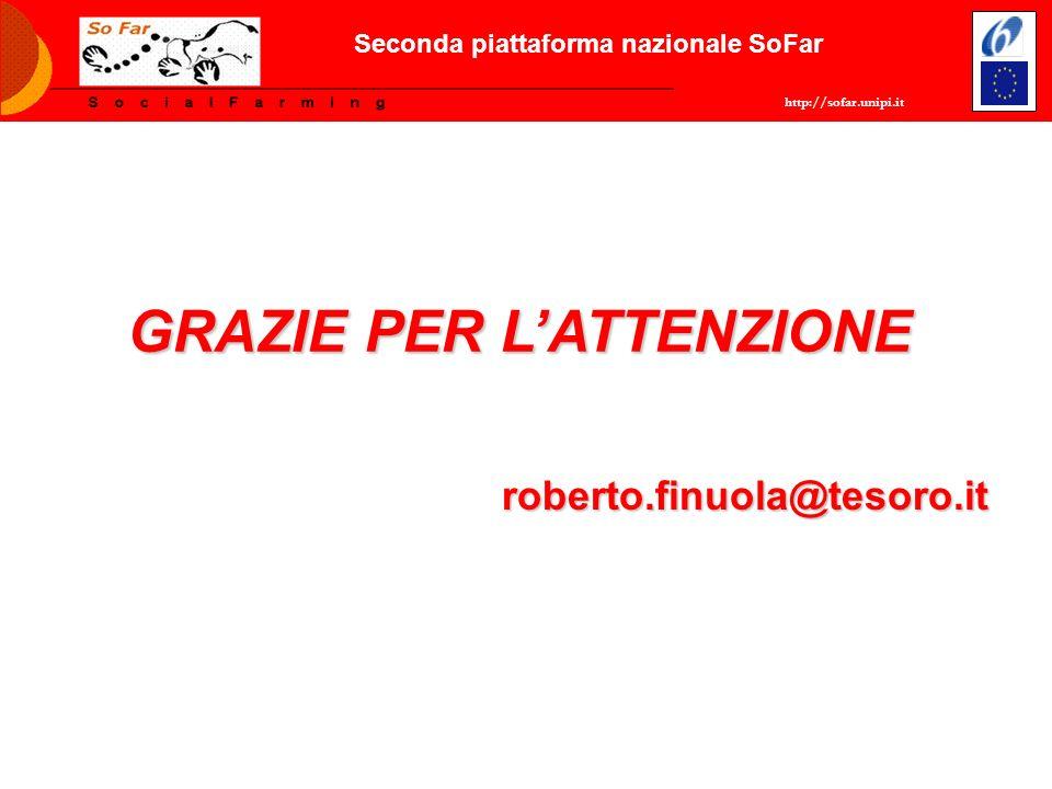 GRAZIE PER LATTENZIONE roberto.finuola@tesoro.it http://sofar.unipi.it Seconda piattaforma nazionale SoFar