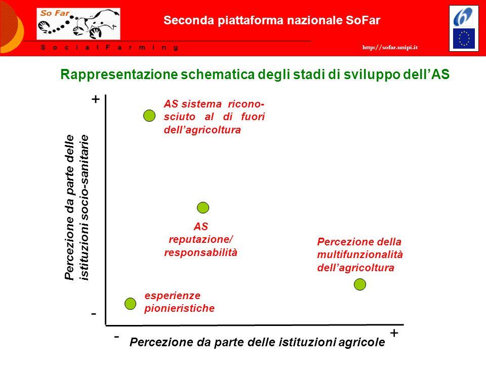 http://sofar.unipi.it Seconda piattaforma nazionale SoFar Rappresentazione schematica degli stadi di sviluppo dellAS + + - - Percezione da parte delle