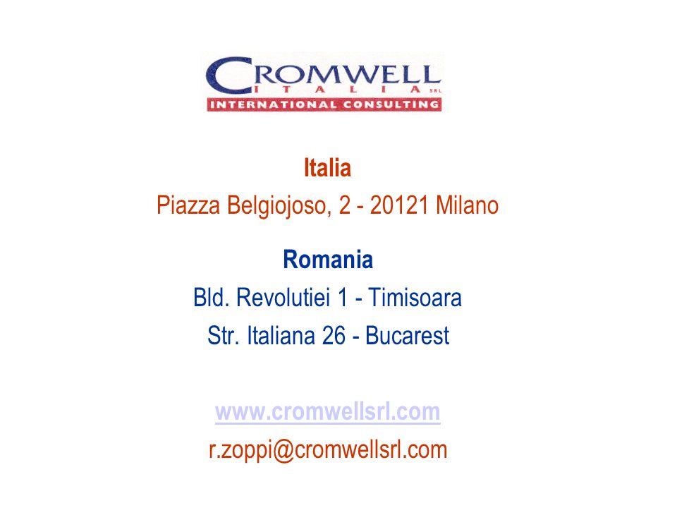 Italia Piazza Belgiojoso, 2 - 20121 Milano Romania Bld.