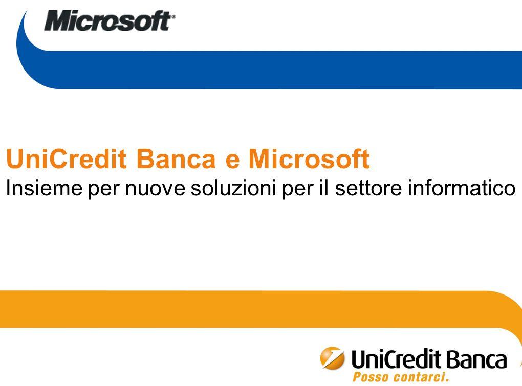 UniCredit Banca e Microsoft Insieme per nuove soluzioni per il settore informatico