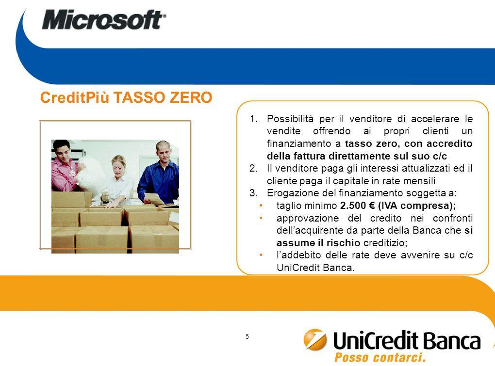 5 1.Possibilità per il venditore di accelerare le vendite offrendo ai propri clienti un finanziamento a tasso zero, con accredito della fattura dirett