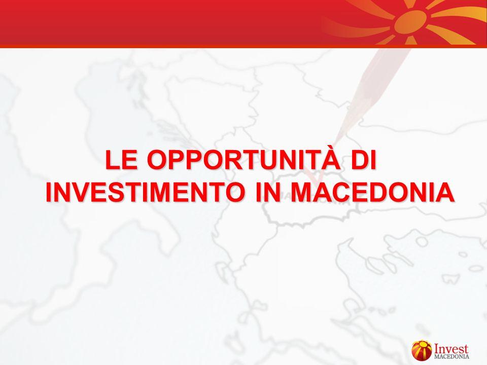 LE OPPORTUNITÀ DI INVESTIMENTO IN MACEDONIA
