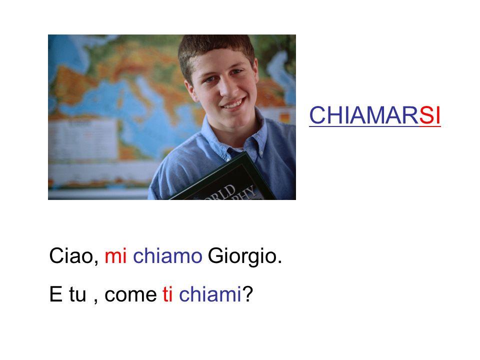 CHIAMARSI Ciao, mi chiamo Giorgio. E tu, come ti chiami?