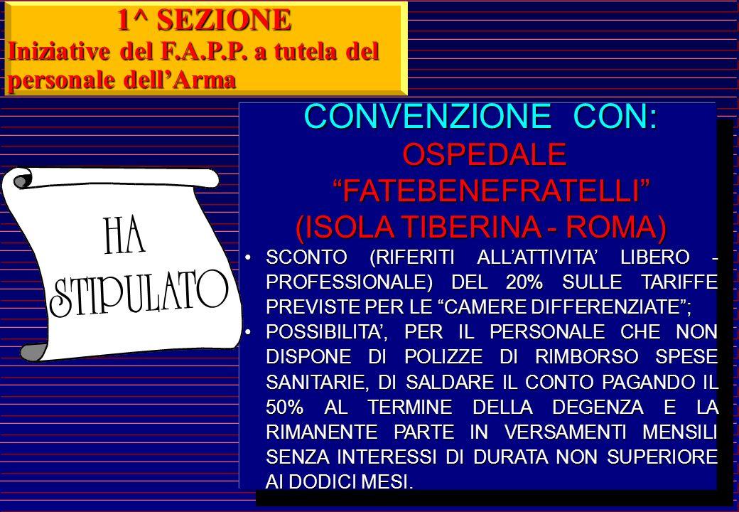 CONVENZIONE CON: OSPEDALE SAN CAMILLO - FORLANINI OSPEDALE SAN CAMILLO - FORLANINI SCONTI (RIFERITI ALLATTIVITA LIBERO - PROFESSIONALE) DEL 10% SULLE