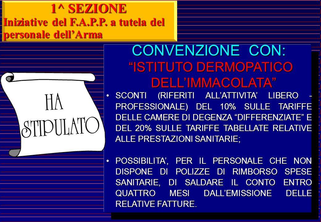 CONVENZIONE CON: OSPEDALE FATEBENEFRATELLI OSPEDALE FATEBENEFRATELLI (ISOLA TIBERINA - ROMA) SCONTO (RIFERITI ALLATTIVITA LIBERO - PROFESSIONALE) DEL