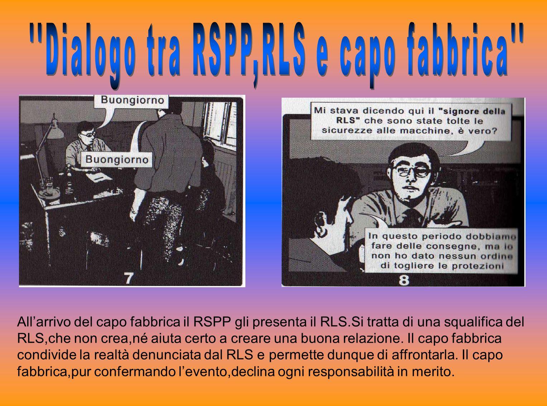 Allarrivo del capo fabbrica il RSPP gli presenta il RLS.Si tratta di una squalifica del RLS,che non crea,né aiuta certo a creare una buona relazione.