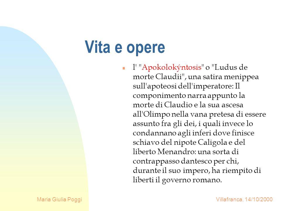 Maria Giulia Poggi Villafranca, 14/10/2000 Vita e opere l'