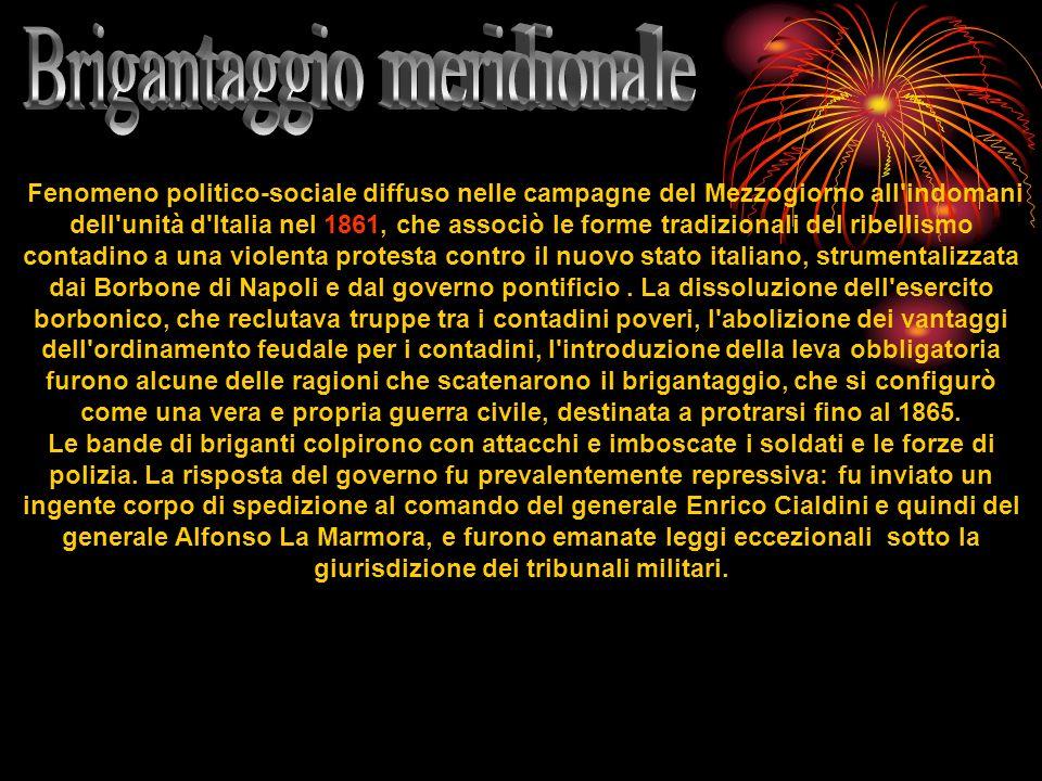 Fenomeno politico-sociale diffuso nelle campagne del Mezzogiorno all'indomani dell'unità d'Italia nel 1861, che associò le forme tradizionali del ribe